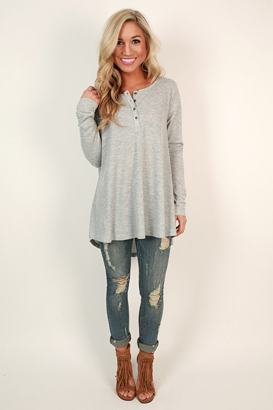 Keeping Traditions Thermal Swing Top in Grey