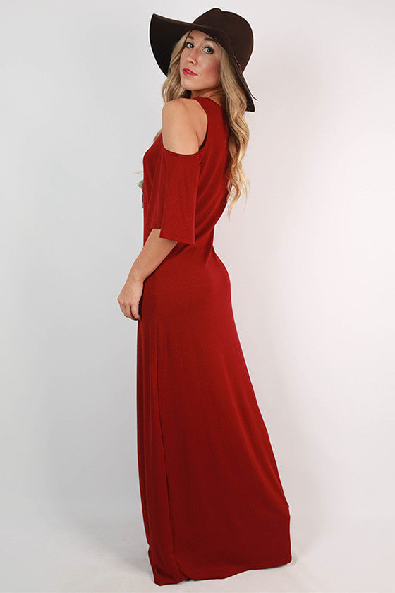 Round of Applause Maxi Dress in Crimson