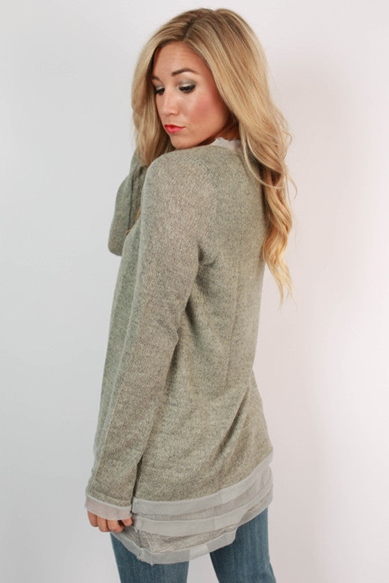 Beautiful Crossroads Sweater in Grey