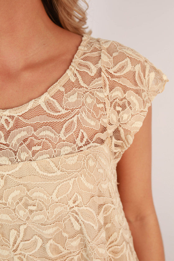 Slow Dance Lace Shift Dress