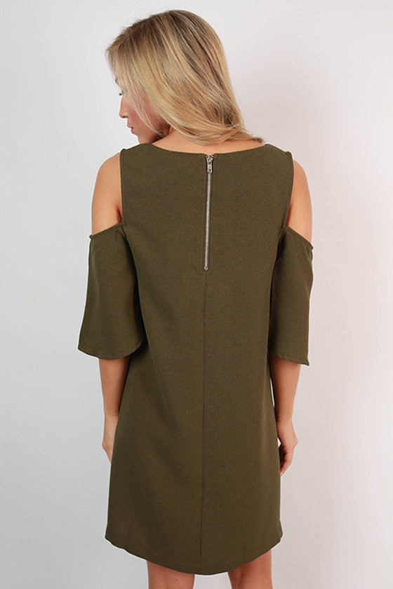 Martinis For Two Open Shoulder Shift Dress