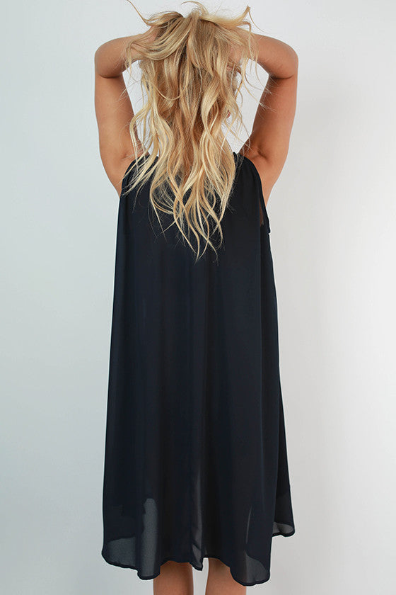 Sunset in Savannah Shift Dress in Navy