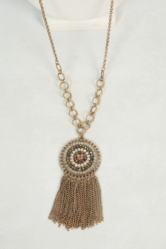 Soak Up The Sun Necklace in Stone
