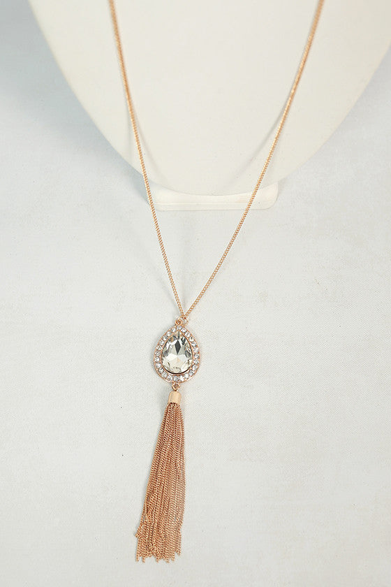 Classic Girl Necklace in Clear