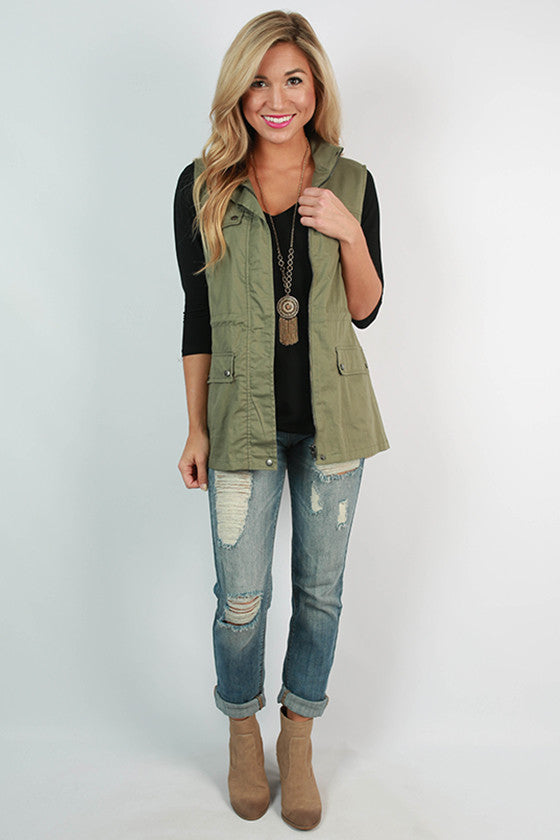 Snow Kissed Shoulders Vest