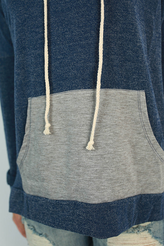 Winter Park Hoodie in Cobalt Blue