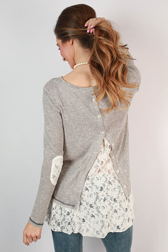 Aspen Weekend Lace Trim Top