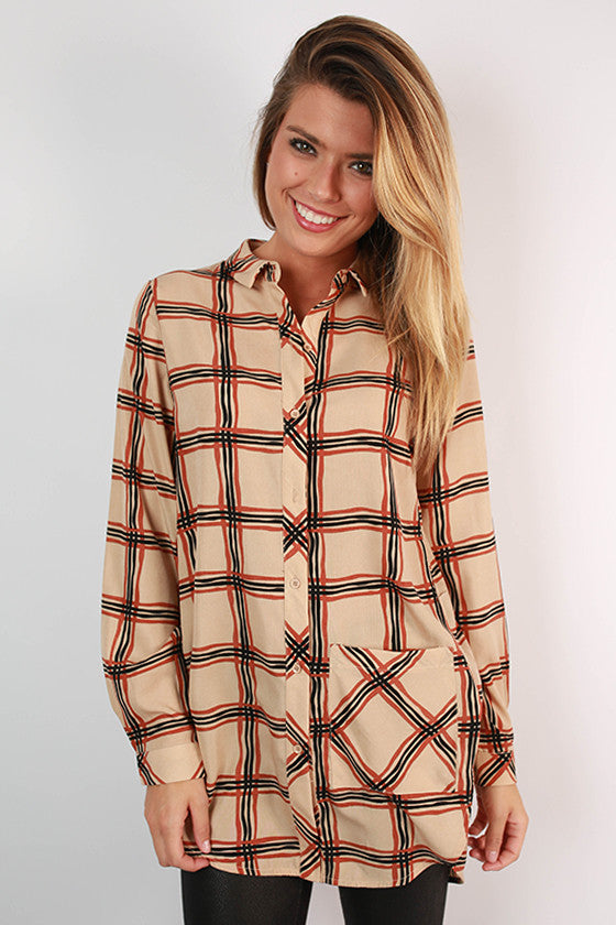 City Strutting Plaid Tunic