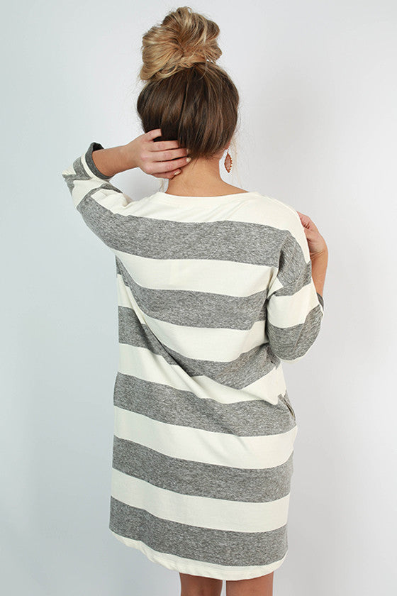 Just My Type Stripe Sweatshirt Dress