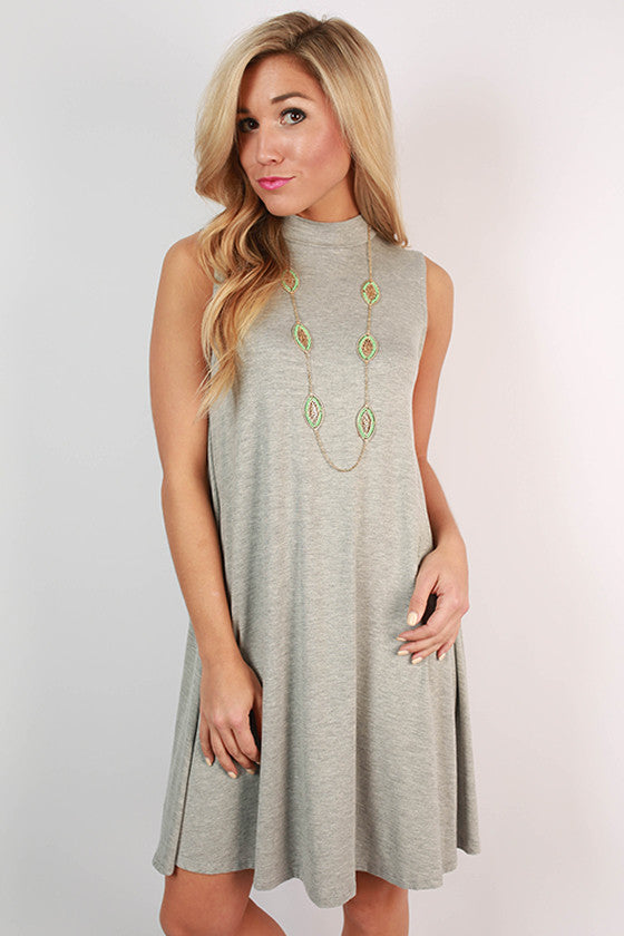 Sipping Bubbly Shift Dress in Grey