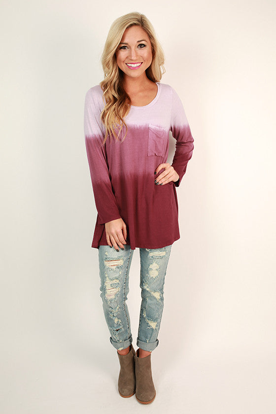 Boost Your Bliss Tunic in Sangria