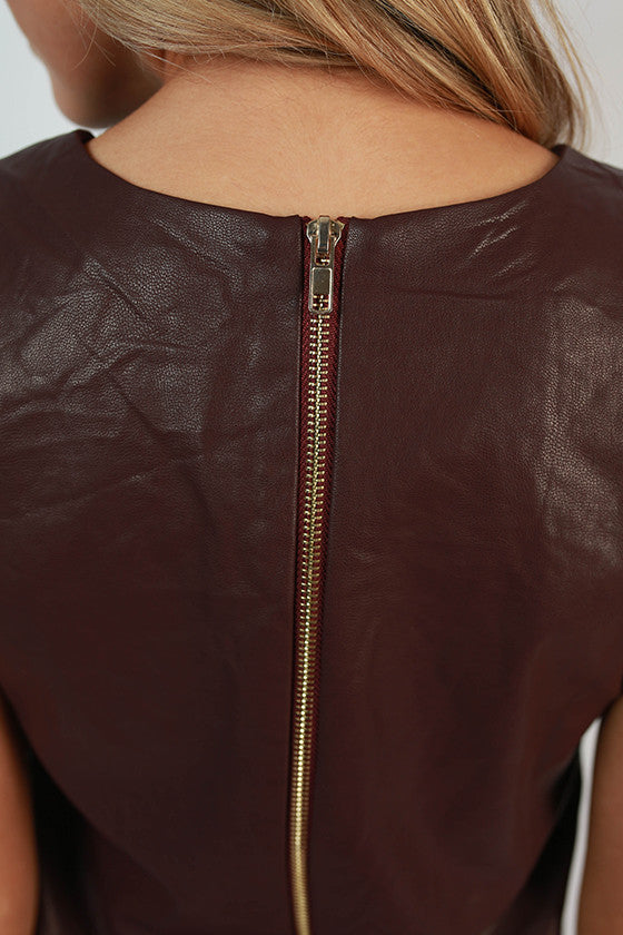 Shift It To Me Faux Leather Dress