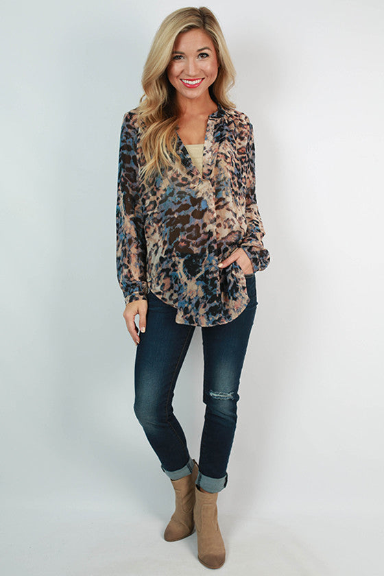 Love & Posh Cheetah Top