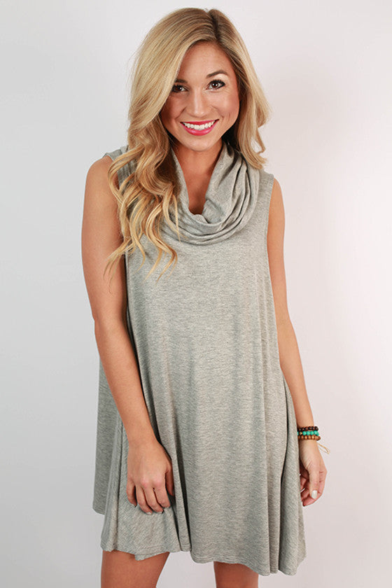 Coffee Date Tank Dress in Grey