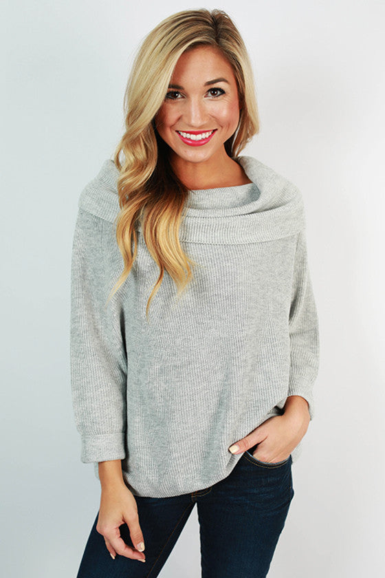 NYC Snuggles Sweater in Grey