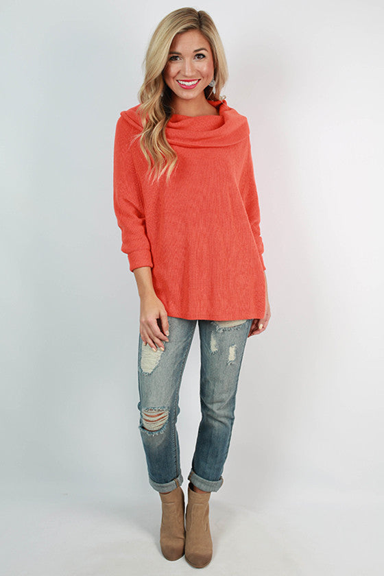 NYC Snuggles Sweater in Tangerine