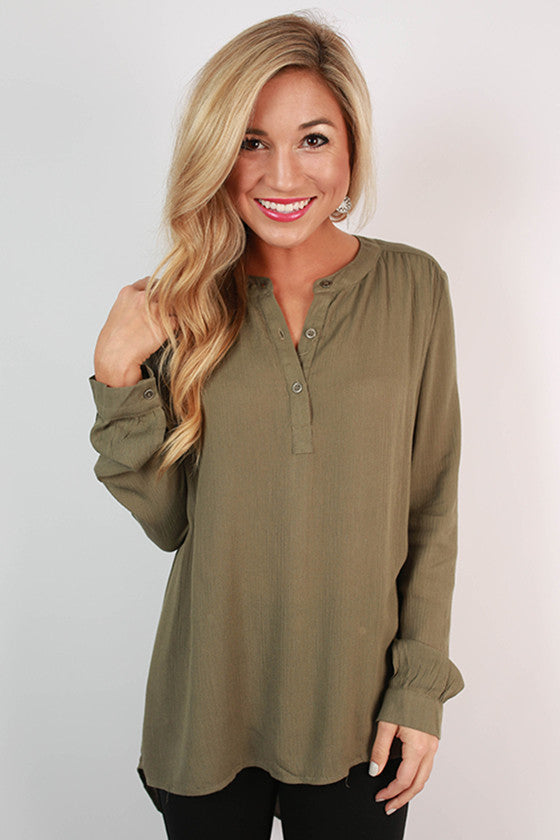 Quite The Catch Top in Sage