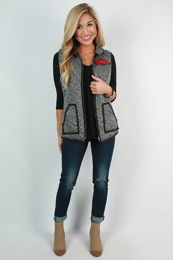 University Of Arkansas Herringbone Vest