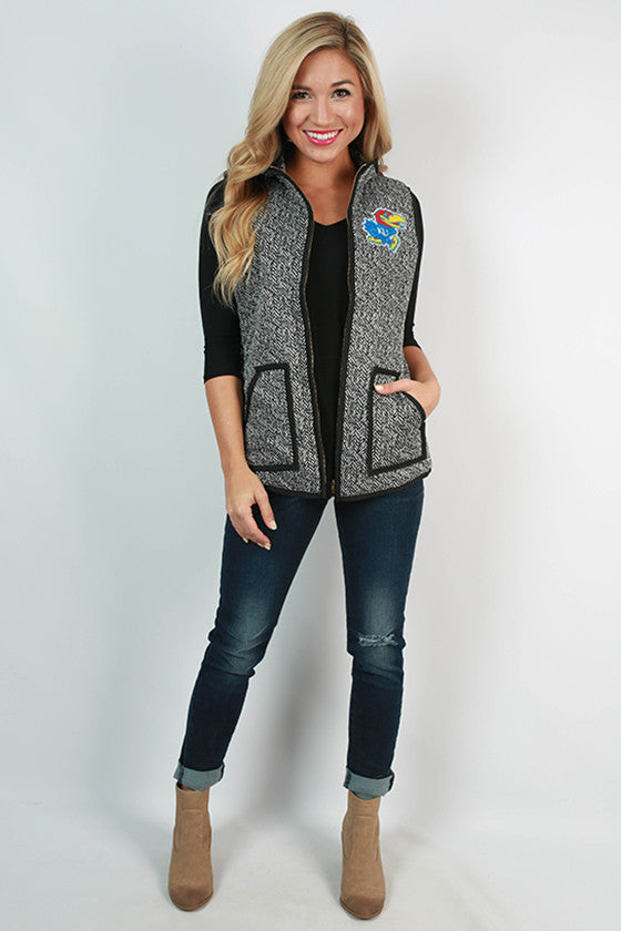 University of Kansas Herringbone Vest