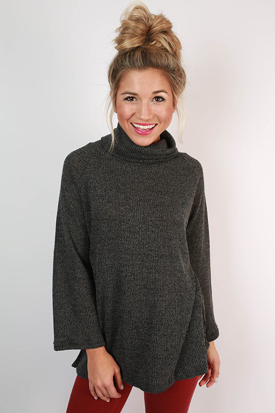 Tiramisu For Two Sweater in Charcoal