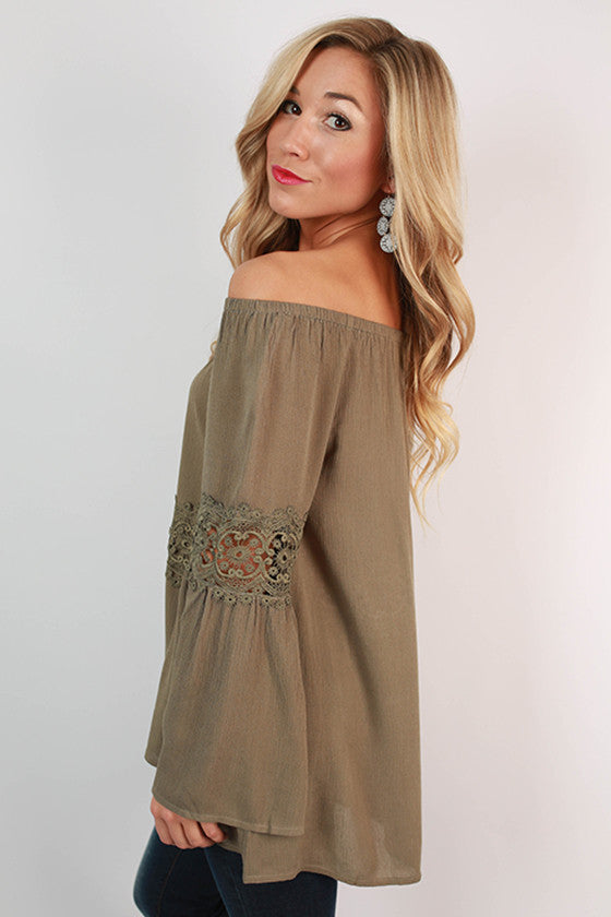 Juniper Breeze Off Shoulder Top