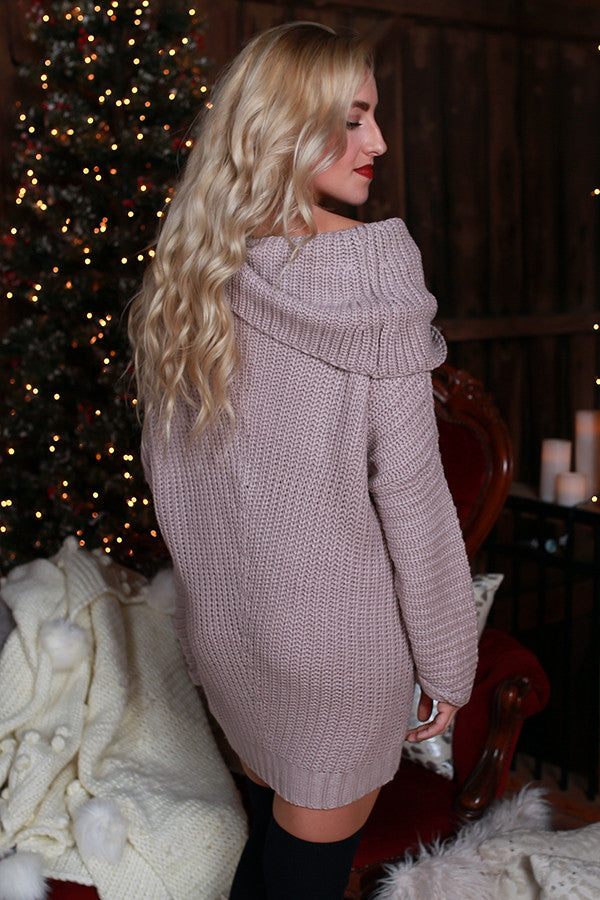 Fireside Snuggles Sweater in Dusty Purple