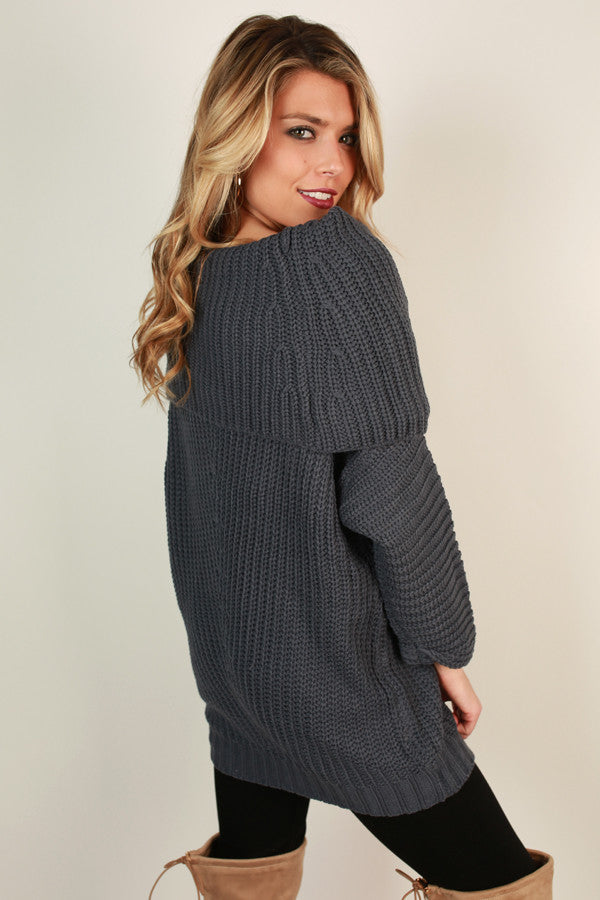 Fireside Snuggles Sweater in Slate