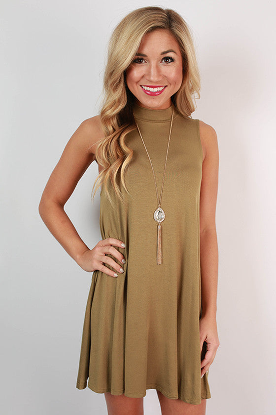 First Class Flight Tank Dress in Sage