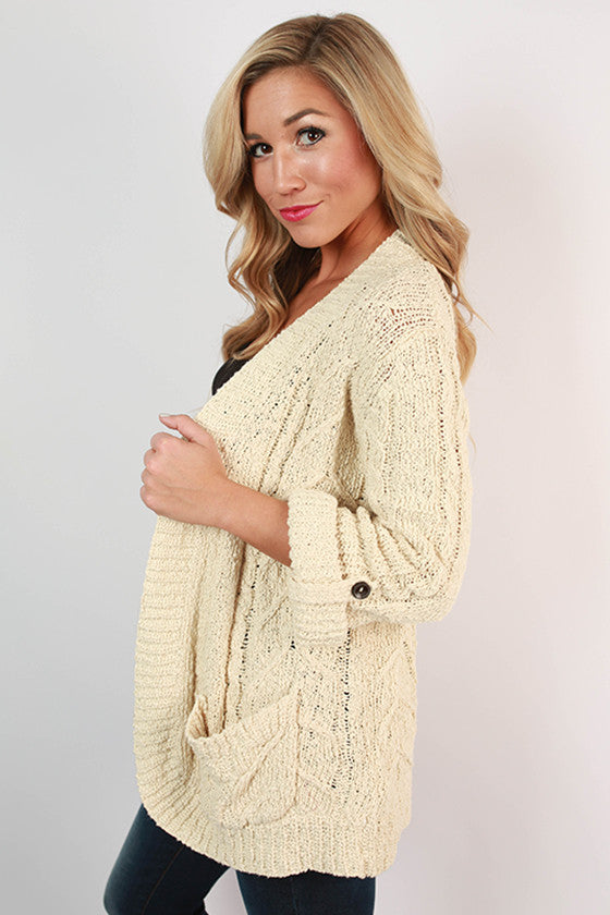 Champagne in Colorado Cardigan