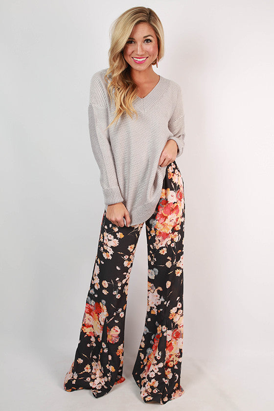 Floral Inspiration Flare Pants