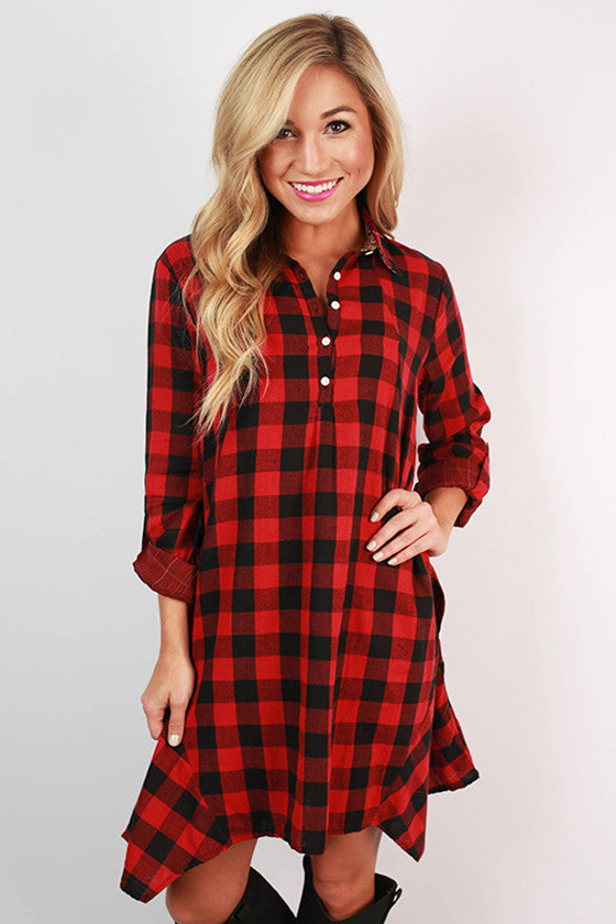 Dining in Denver Plaid Dress