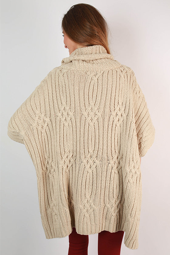 Love & Lattes Sweater Poncho