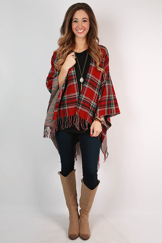 Central Park Plaid Wrap