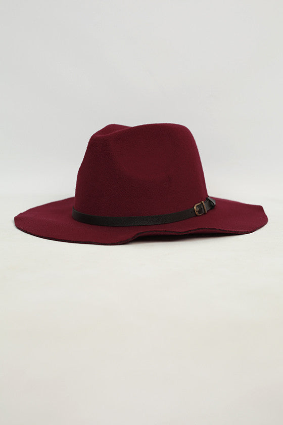 Sunsets in Soho Hat in Maroon