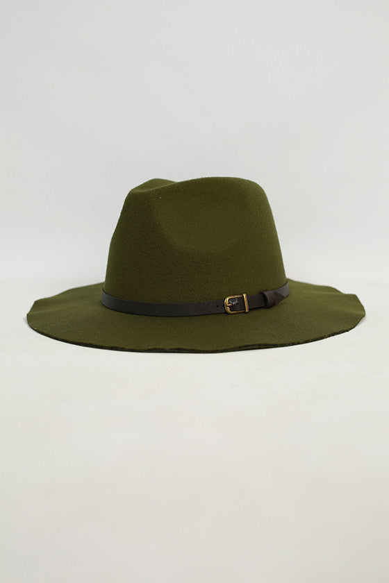 Sunsets in Soho Hat in Olive