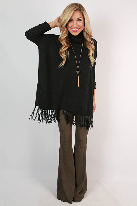 Cocktails in Sanfran Faux Suede Flare Pants