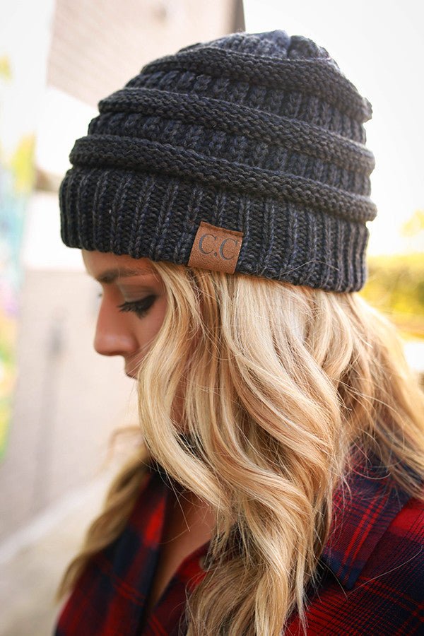 Beanie Beautiful in Heathered Navy
