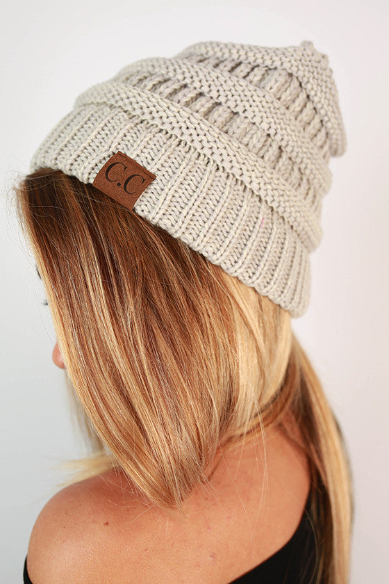 Beanie Beautiful in Light Grey