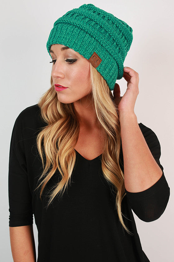 Beanie Beautiful in Turquoise Blend