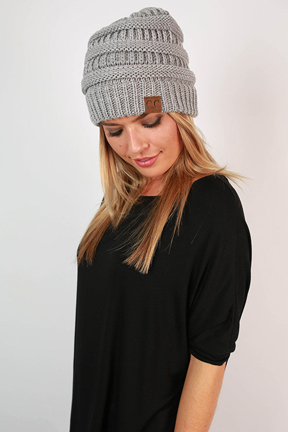 Beanie Beautiful in Heather Grey