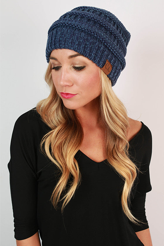 Beanie Beautiful in Cobalt Blue Blend