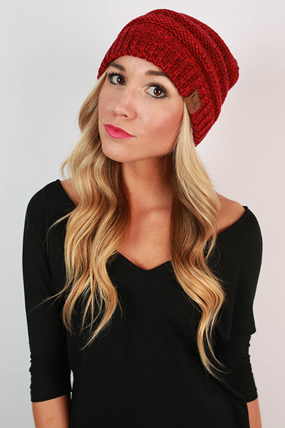 Beanie Beautiful in Crimson Blend