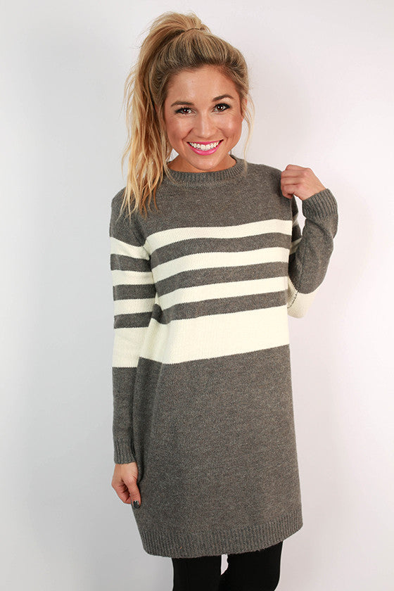 Stripes Of Luck Tunic Sweater