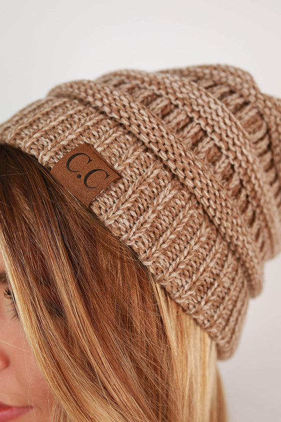 Beanie Beautiful in Taupe Blend