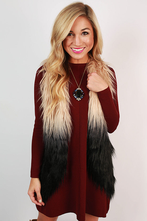 Ombre Obsessed Faux Fur Vest