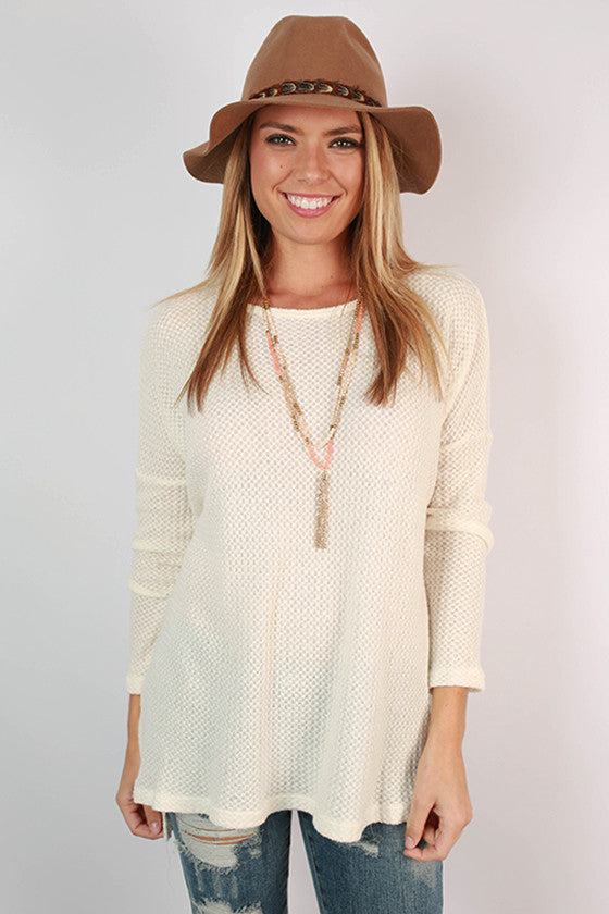 Traveling The South Thermal Top in Ivory