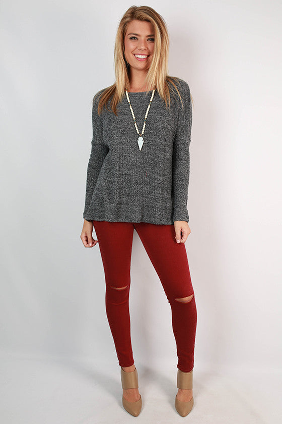 Traveling The South Thermal Top in Charcoal