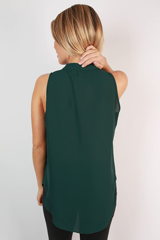 Juniper Darling Tank in Hunter Green