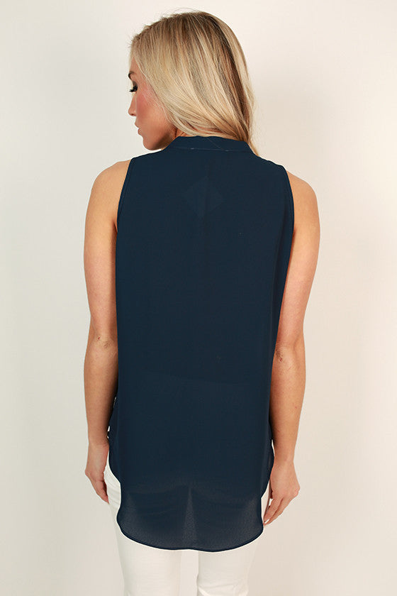 Juniper Darling Tank in Navy