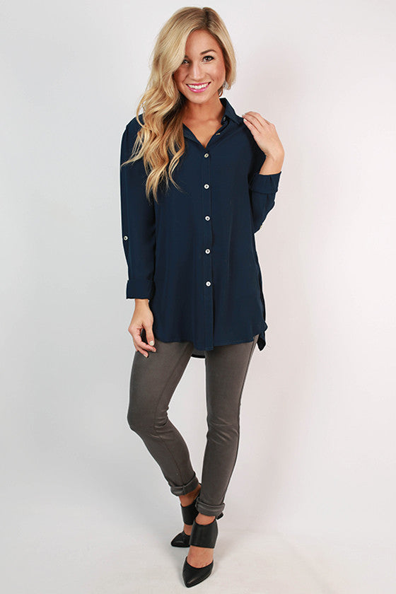 Juniper Breeze Tunic in Navy